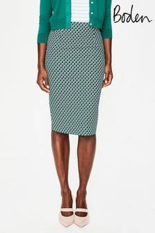 Boden Blue Richmond Pencil Skirt
