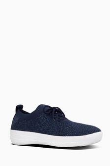 FitFlop™ Blue FSporty Uberknit Sneakers Crystal