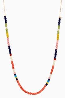 Multi Coloured Fine Beaded Necklace