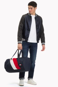 Tommy Hilfiger Blue Chevron Duffle Bag