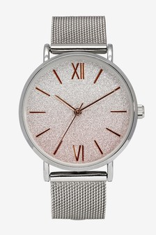 Ombre Sparkle Mesh Watch