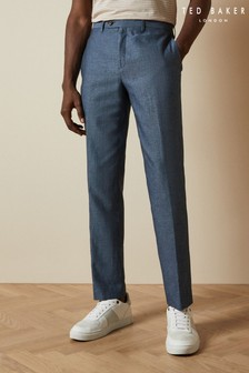 Ted Baker Hooptro Core Linen Mix Trousers