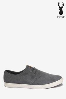 Mens Grey Shoes | Grey Suede, Linen