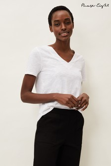 Phase Eight White Elspeth V-Neck Top