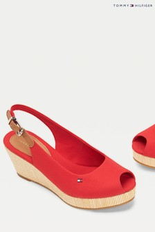 Tommy Hilfiger Red Iconic Elba Sling Back Wedges