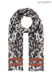 Accessorize Animal Saffron Leopard Scarf