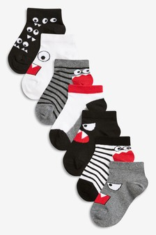7 Pack Monster Trainer Socks (Younger)