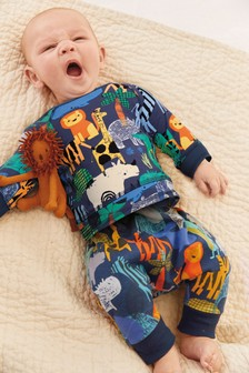 Bright Animal Print Two Piece Set (0mths-2yrs)