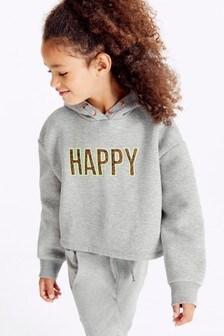 Happy Crop Hoody (3-16yrs)