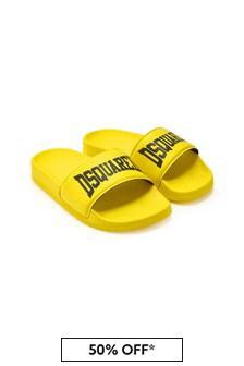 Dsquared2 Kids Boys Yellow Sliders