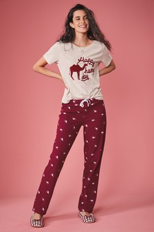 Hump Day Slogan Cotton Pyjamas