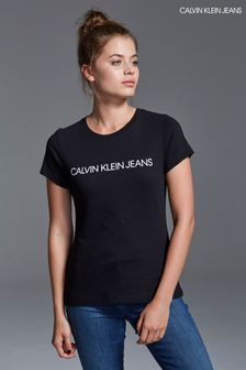 aa2b0a8f5e5 Womens Calvin Klein Tops | Long & Short Sleeve Tops | Next UK