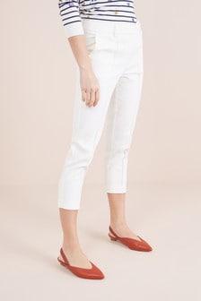 Pantalones capri en mezcla de algodón