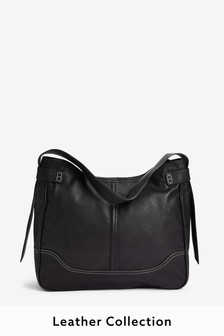 Signature Leather Hobo Bag