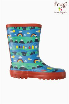 Frugi Blue Puddle Buster Alpine Town Wellington Boot