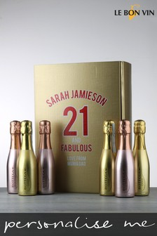 Personalised Birthday Age Prosecco And Sparkling Rose Gift Box by Le Bon Vin