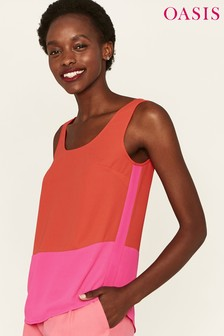 Oasis Pink Colour Block Vest