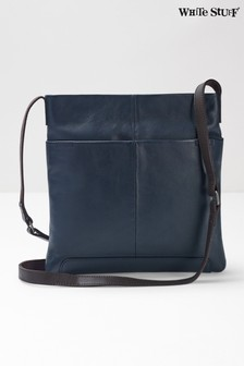 White Stuff Blue Issy Leather Cross Body Bag