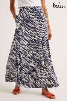 Boden Blue Jersey Maxi Skirt