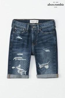 Abercrombie & Fitch Medium Wash Denim Shorts