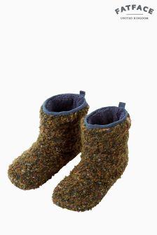 FatFace Green Logan Textured Boot