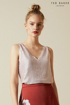 Ted Baker Pink Robinee Ribbed Vest Top