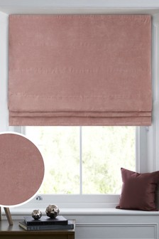 Soft Velour Roman Blind