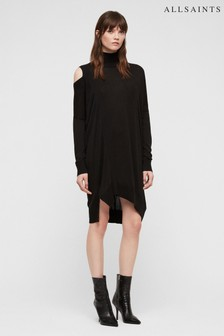All Saints Black Cecily Dress