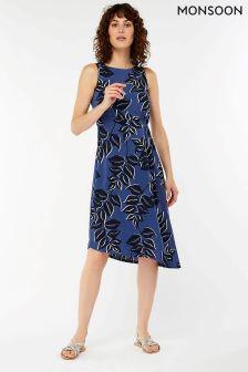 Monsoon Blue Kora Print Dress
