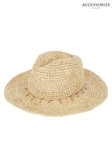 Accessorize Nude Charm Crochet Cowboy Hat