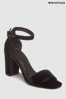 Whistles Black Alba Sandal