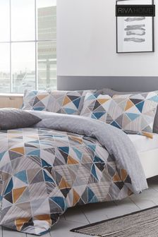 Riva Home Harlequin Duvet Cover and Pillowcase Set