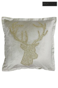Woodland Stag Cushion by Riva Home