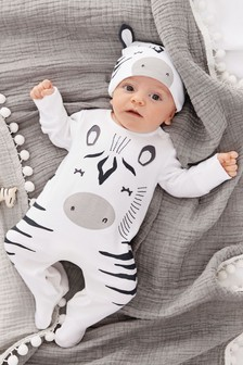 Zebra Dress Up Sleepsuit And Hat (0-18mths)