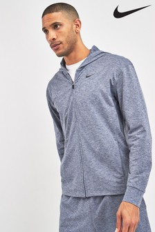 Nike Hyper Dry Navy Zip Through Training Hoody