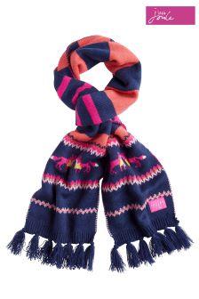 Joules gestrickter Schal mit Norwegermuster