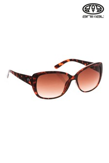 Animal Brown Daybreak Oversized Tortoiseshell Sunglasses