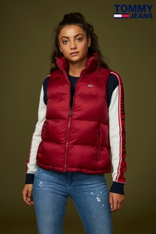 Tommy Jeans Red Quilted Gilet