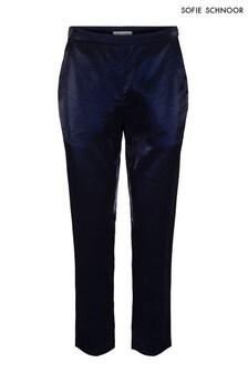 Sofie Schnoor Dark Blue Velvet Trouser