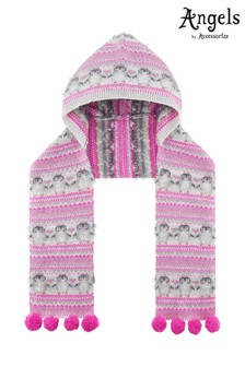 Angels by Accessorize Pink Peggy Penguin Hooded Scarf