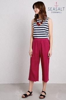 Seasalt Pink Lunar Light Crop Trouser