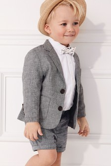 Blazer, Shirt And Shorts Set (3mths-7yrs)