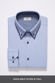 Slim Fit Single Cuff Double Collar Shirt