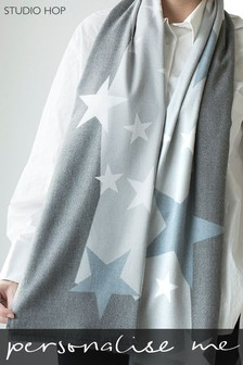 Personalised Cashmere Blend Star Shawl by Studio Hop