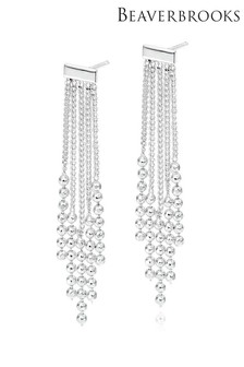 Beaverbrooks Silver Tassel Drop Earrings