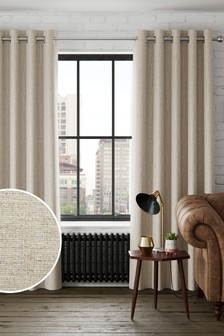 Textured Fleck Eyelet Lined Curtains