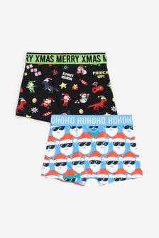 2 Pack Christmas Print Trunks (2-16yrs)