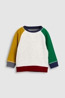 Комбинированная футболка с вырезом под горло (3 мес.-6 лет)