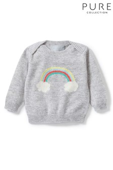 Pure Collection Grey Cashmere Baby Sweater