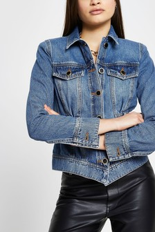 River Island Medium Waisted Denim Jacket